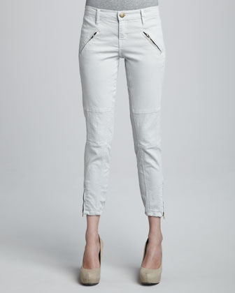 The Moto Stiletto Stone Gray Pants