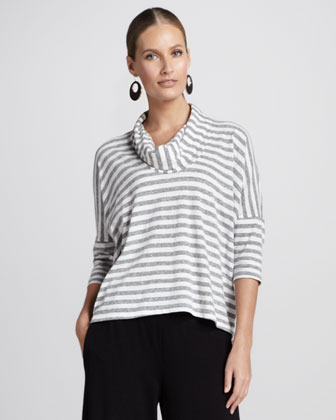 Striped Melange Slub Top, Women's