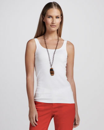 Organic-Cotton Tank, White