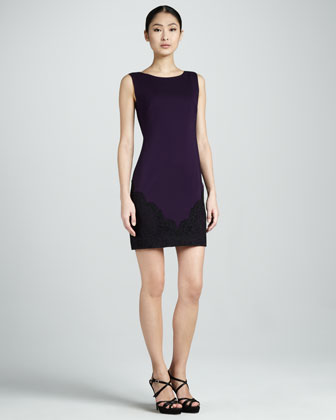 Sleeveless Sheath with Lace Accents