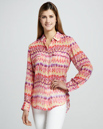 Flamestitch Safari Blouse