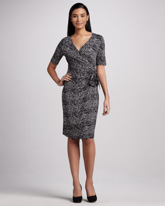 Side-Tie Print Dress