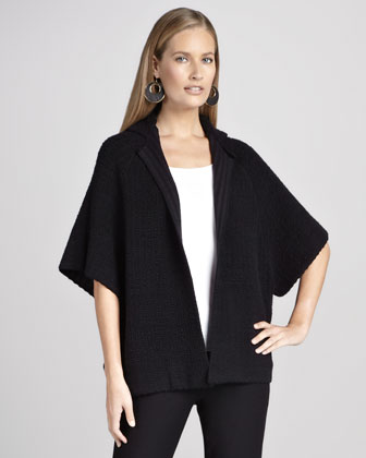 Open Silk Jacquard Jacket