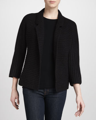 Ribbed Cardigan Jacket