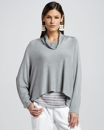 Funnel-Neck Jersey Top, Women's