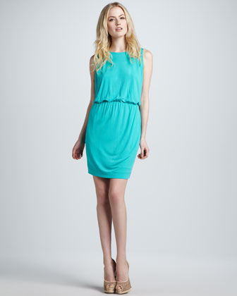 Sleeveless Draped Jersey Dress
