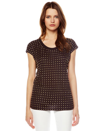 Pyramid-Stud Relaxed Top