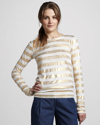 Dali Shimmer-Stripe Top