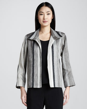 Jacquard-Stripe Jacket, Women's