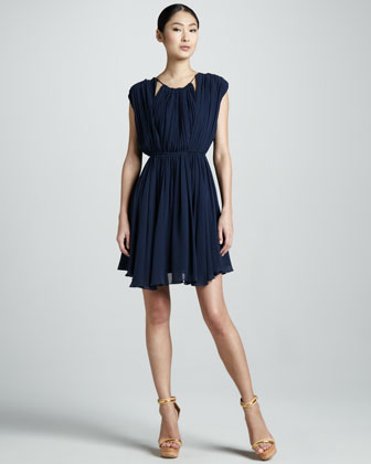 Nina Pleated Dress