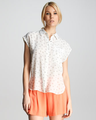 Silk Polka-Dot Blouse