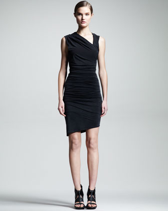 Ruched Asymmetric Dress