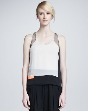 Chroma Draped Colorblock Top