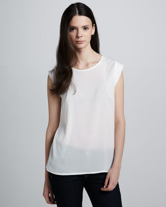 Polly Plains Top, Daisy White