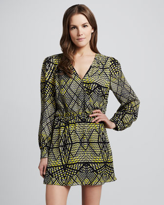 Lila Matrix-Print Dress
