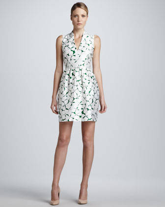 Viola V-Neck Printed Dress