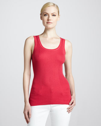 Silk-Blend Sleeveless Tank
