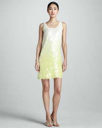Shimmer Ombre-Sequin Tank Dress