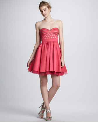 Strapless Flared Cocktail Dress