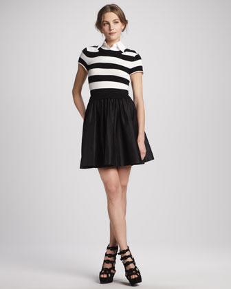 Laurelle Striped Shirtdress