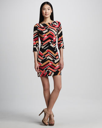 Abstract Print Jersey Dress, Women's