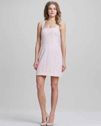 Sweetheart Eyelet Lace Dress