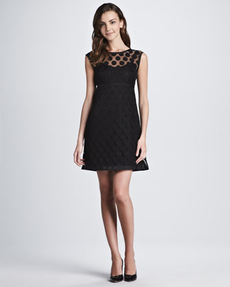 Polka-Dot Lace Dress