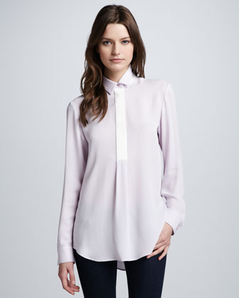 Georgette Button-Down Blouse