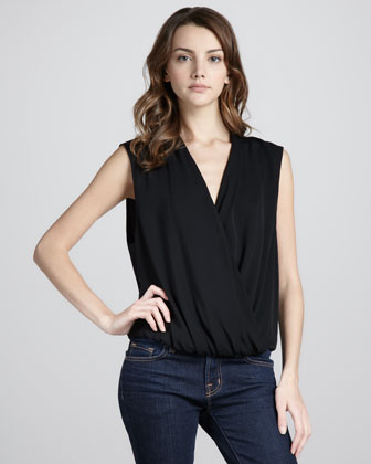 Sleeveless Blouson Top