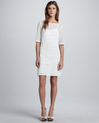 Steffi Zigzag-Lace Dress