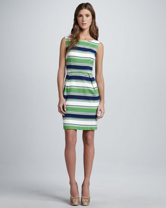 Spectator Striped Sleeveless Dress