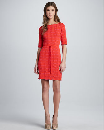 Serena Scalloped Knit Dress