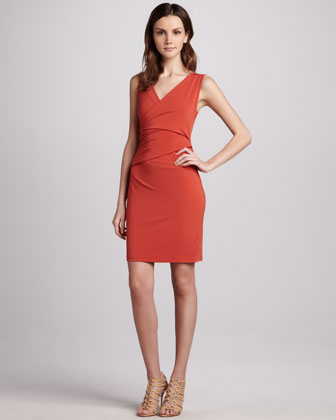 Stretch-Jersey Sleeveless Dress