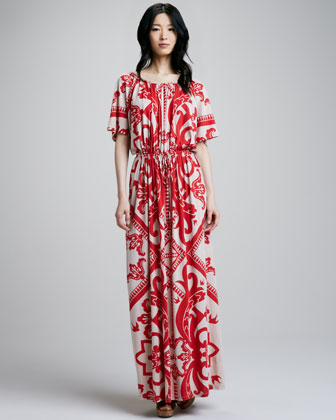 Puccinella Printed Drawstring Dress
