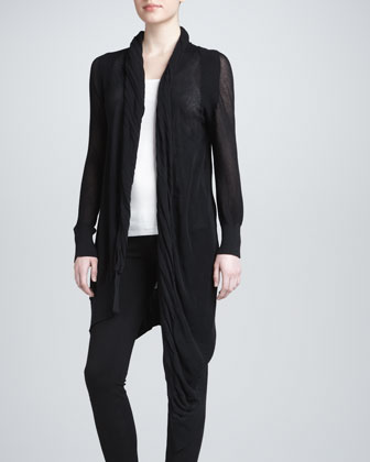 Drape-Front Cozy Coat