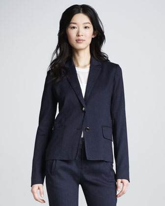 Two-Button Blazer, Navy