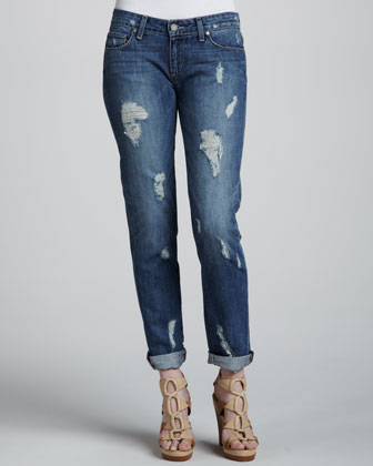 Jimmy Deconstructed Cuffed Jeans