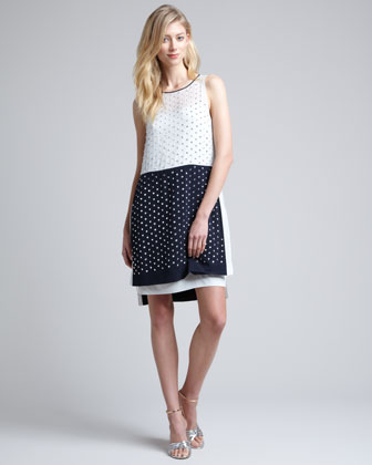 Abrielle Beaded Colorblock Dress