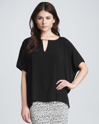 Beonica Draped Keyhole Top