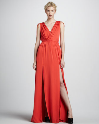Thara Double-V Maxi Dress
