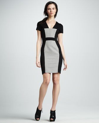 Short-Sleeve Panel Dress