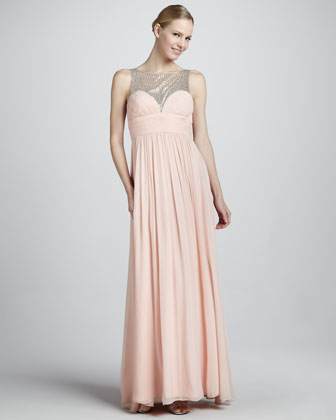 Beaded Gown with Sweetheart Neckline