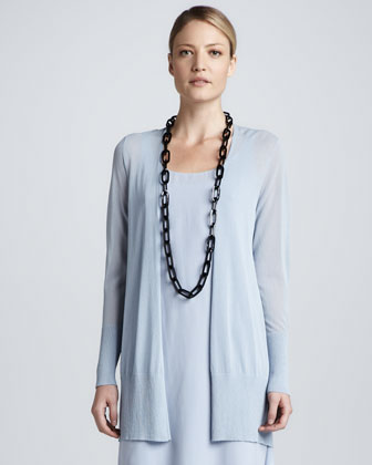 Crinkle Long Cardigan