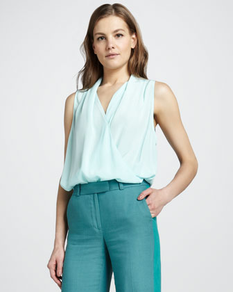 Clara High Low Surplice Top