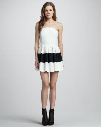 Margaret Colorblock Strapless Dress