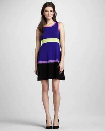 Colorblock Cashmere Dress