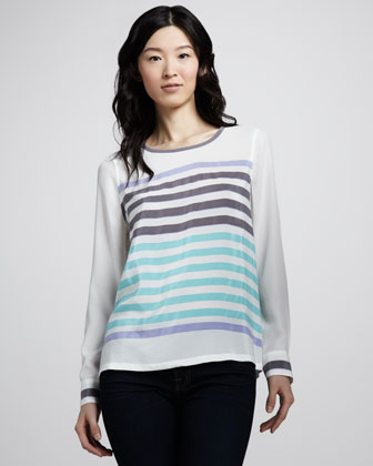 Modern Art Striped Top