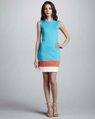 Cheer Sleeveless Shift Dress