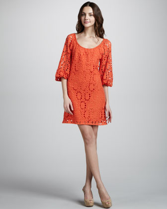Pebble Beach Eyelet Dress