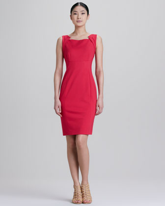 Patrina Zipped Back Sheath Dress
